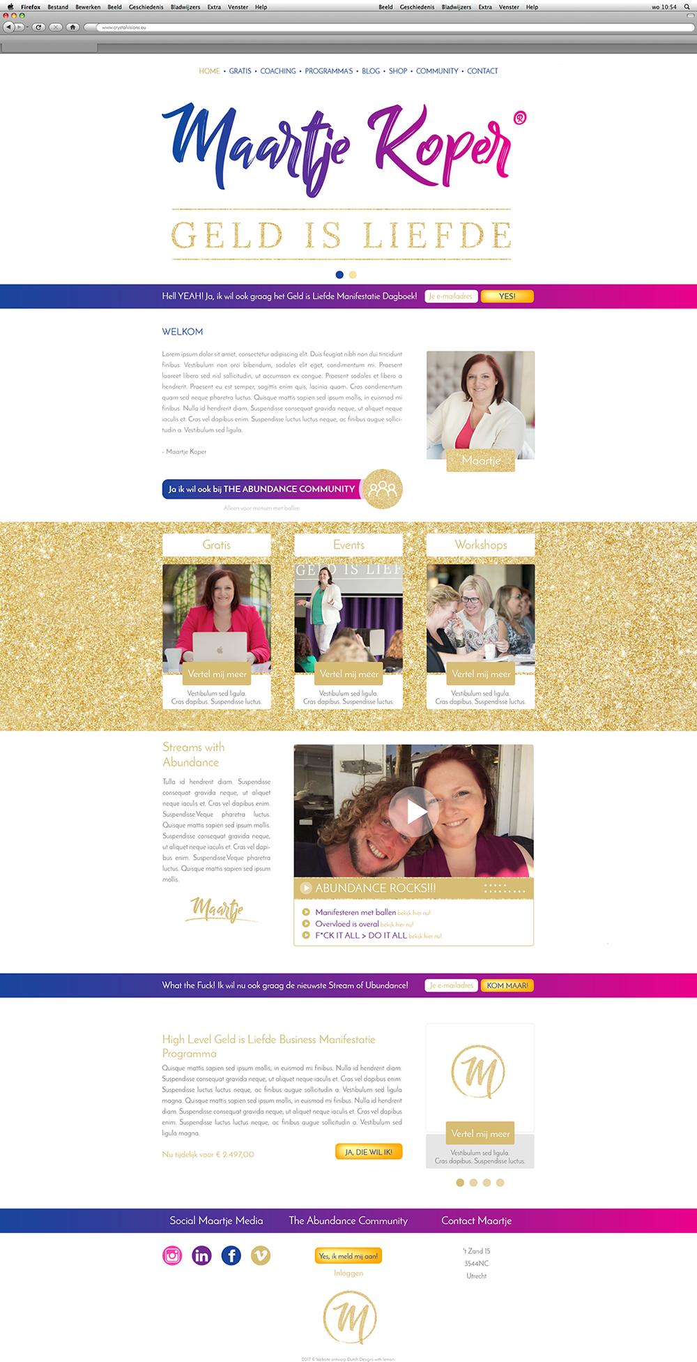 Maartje Koper purpose branding marketing website huisstijl Haarlem